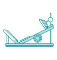 gym machines shadows vector image vector image