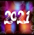 happy new year 2021 background decoration vector image vector image