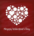 happy valentines day with red background vector image vector image