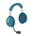 headphones with microphone vector image