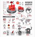 infographic business world industry factory vector image vector image