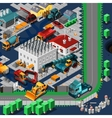 Isometric Construction Machines Concept vector image