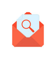mail symbol envelope icon search envelope vector image