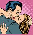 man and woman hugs love and romance vector image