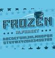 modern professional 3d alphabet frozen vector image vector image