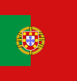 national symbol of portugal flag vector image vector image