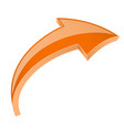 orange 3d shiny up arrow vector image