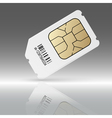 Phone sim card with reflection vector image