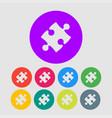 piece puzzle one puzzle logo symbol vector image