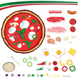 Pizza design elements vector image vector image