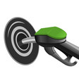pumping fuel in to the tank vector image vector image