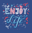 quote hand drawn color lettering vector image vector image