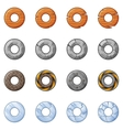 Round Blocks For Physics Game 2 vector image vector image