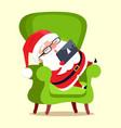 santa claus with tablet icon vector image vector image