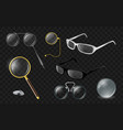 set of optics - modern realistic isolated vector image vector image