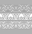set tape seamless floral patterns vector image vector image