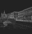 sketch a city street vector image vector image
