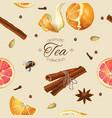 Spice tea seamless pattern vector image