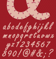 Stitched numbers and letters vector image vector image