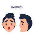 surprised man emotions flat concept vector image vector image