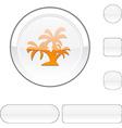 tropical white button vector image vector image