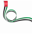 united arab emirates wavy flag background vector image vector image