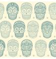Vintage ethnic hand drawn human skull seamless vector image vector image