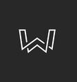 W letter logo monogram modern mockup black and vector image vector image