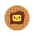 waffles with butter icon vector image vector image