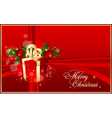 xmas red background vector image vector image
