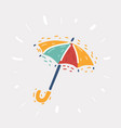 yellow umbrella icon vector image
