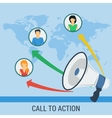 Banner call to action vector image