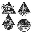 Vintage music shop emblems vector image