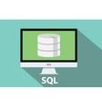 sql database computer vector image