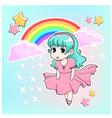 manga girl vector image