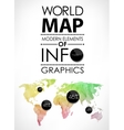 World map card vector image