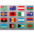 flags of all countries of the world part 1 vector image
