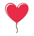 heart love red icon vector image