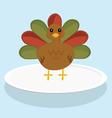 A Festive Turkey vector image