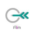 aim logo design element vector image vector image