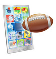 american football ball mobile phone vector image vector image