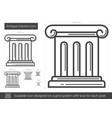 antique column line icon vector image