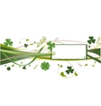 background with clover vector image vector image