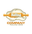 baking and rolling pin logo vector image vector image