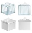 ballot box democracy mockup set realistic style vector image
