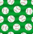 Baseballs on grass seamless pattern vector image vector image