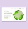 beautiful landing page with eco and bio design in vector image vector image