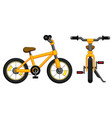 bicycle with yellow frame vector image