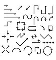 black arrows set collection of web signs vector image