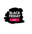 black friday grange texture sale banner price tag vector image